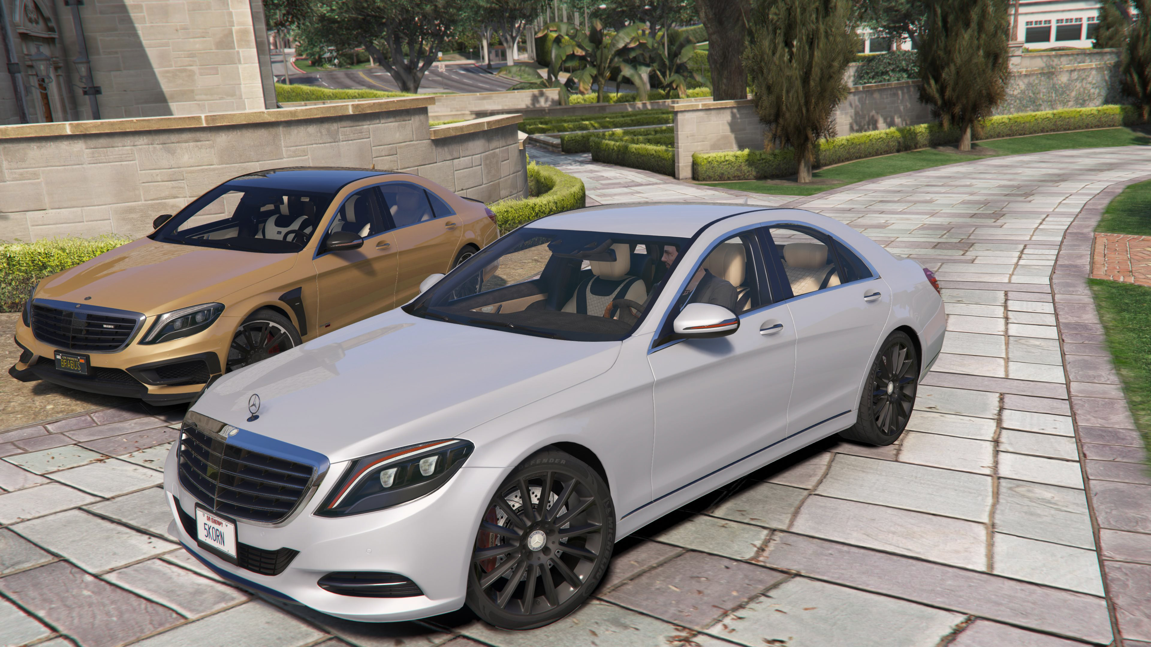 2014 mercedes benz s500 w222 add on replace gta5 for Mercedes benz s class 500