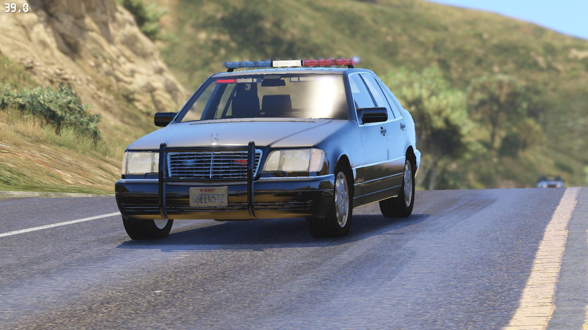 Mercedes-Benz S600 (W140) FBI police - GTA5-Mods.com