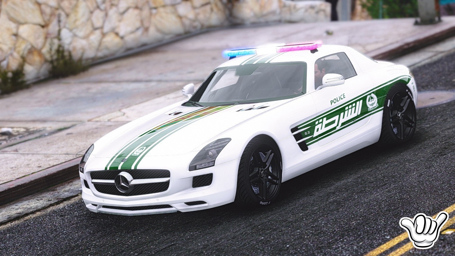 mercedes benz sls amg dubai police add on replace