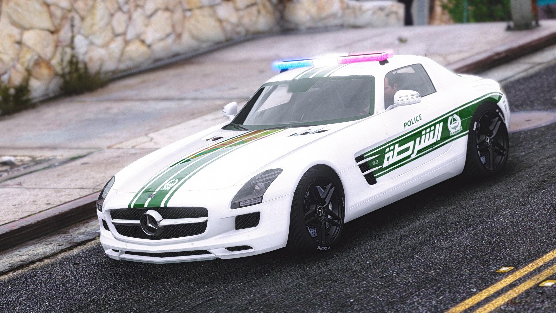 Mercedes Benz SLS AMG Dubai Police GTA5 Mods