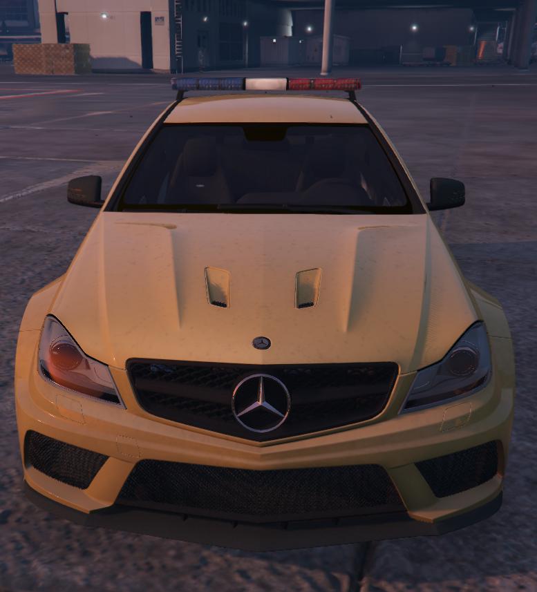 Mercedes C63 AMG Airport Security