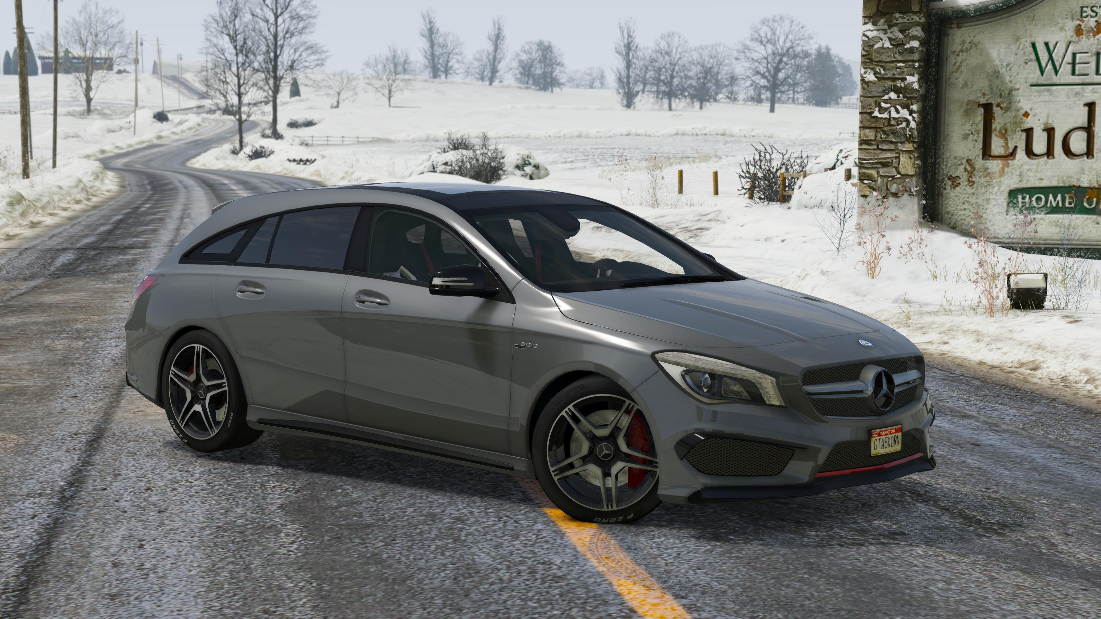 2016 mercedes amg cla 45 shooting brake add on replace gta5. Black Bedroom Furniture Sets. Home Design Ideas