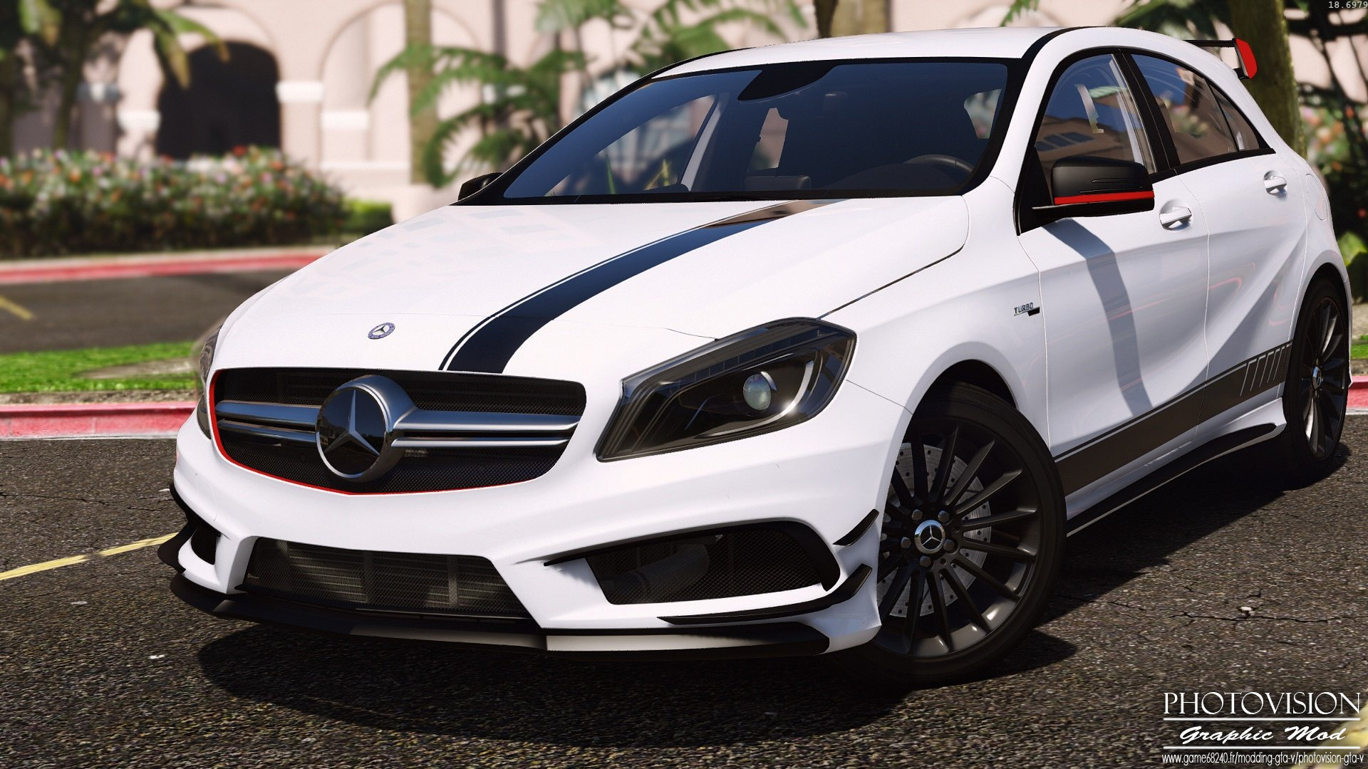 mercedes benz classe a45 amg edition 1 add on replace gta5. Black Bedroom Furniture Sets. Home Design Ideas