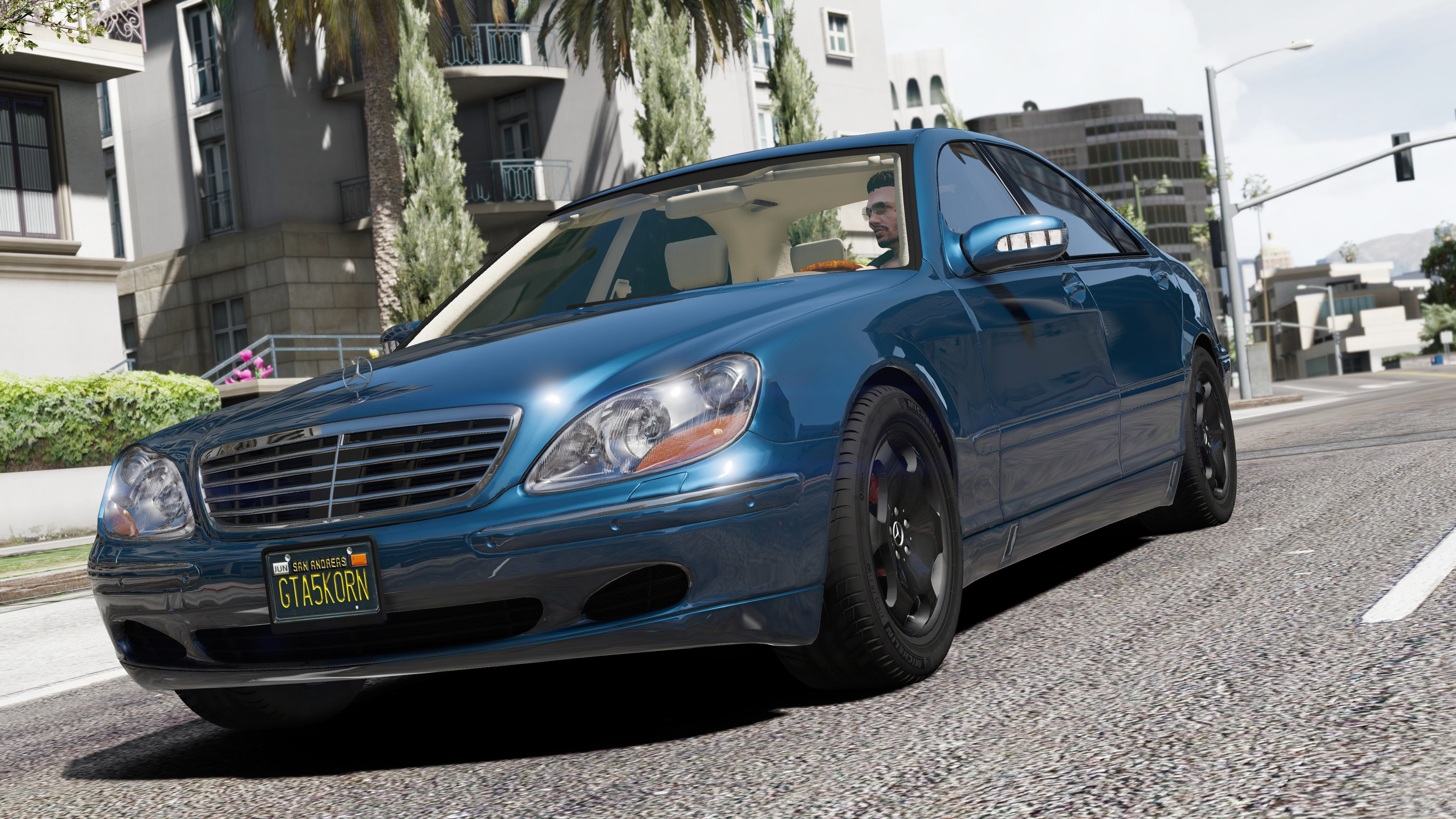 mercedes benz s600 w220 add on replace gta5. Black Bedroom Furniture Sets. Home Design Ideas