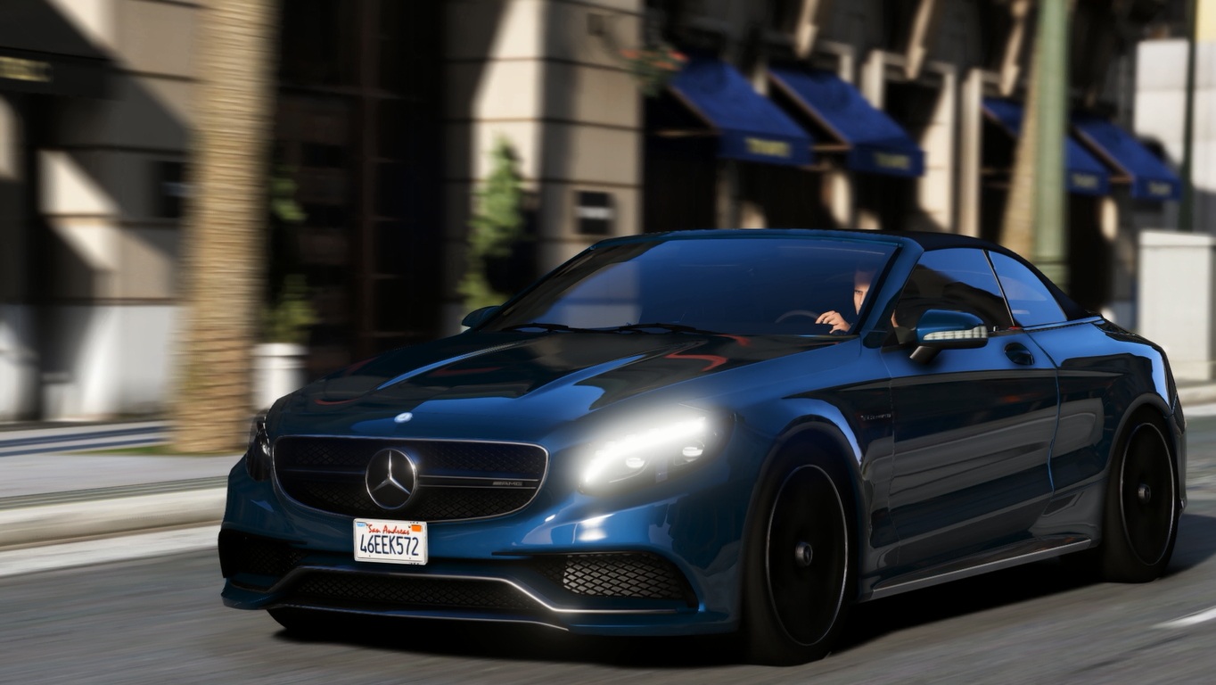 mercedes benz s63 amg cabriolet add on replace gta5. Black Bedroom Furniture Sets. Home Design Ideas