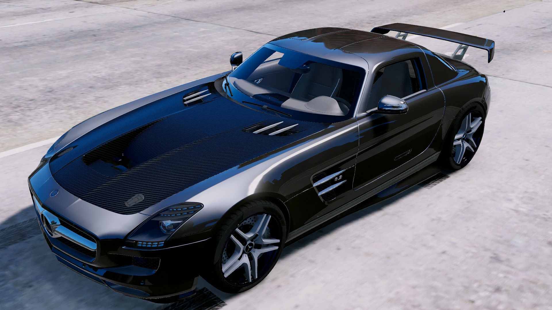 mercedes sls amg seagull wings add on gta5. Black Bedroom Furniture Sets. Home Design Ideas