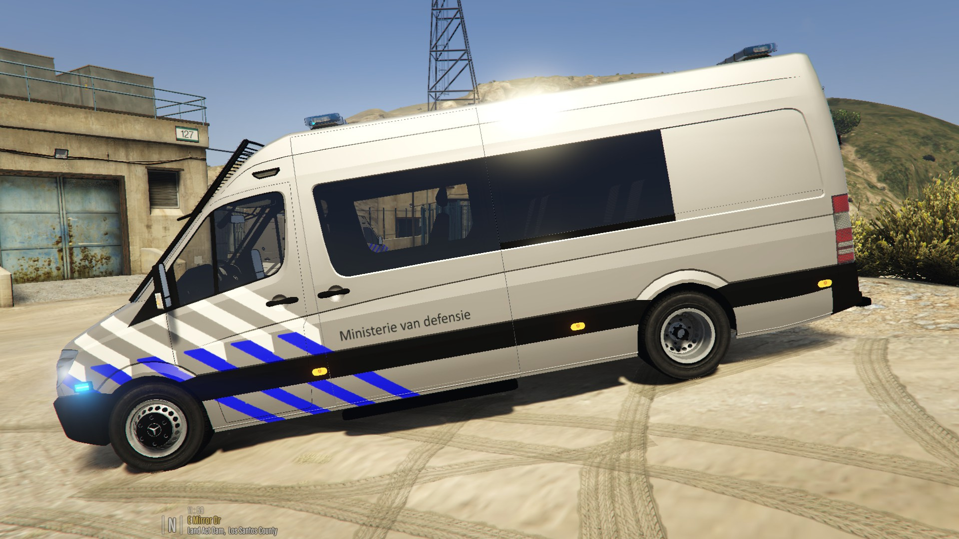 Bmw Sprinter Van >> Mercedes Sprinter Ministerie van defensie [ELS] - GTA5-Mods.com