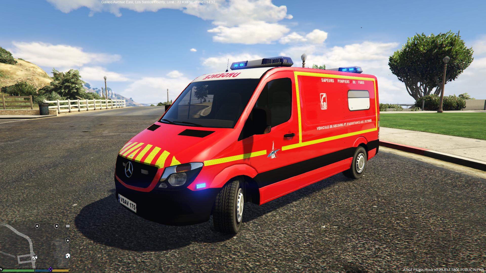 Mercedes Sprinter Vsav Sapeurs Pompiers De Paris Gta5