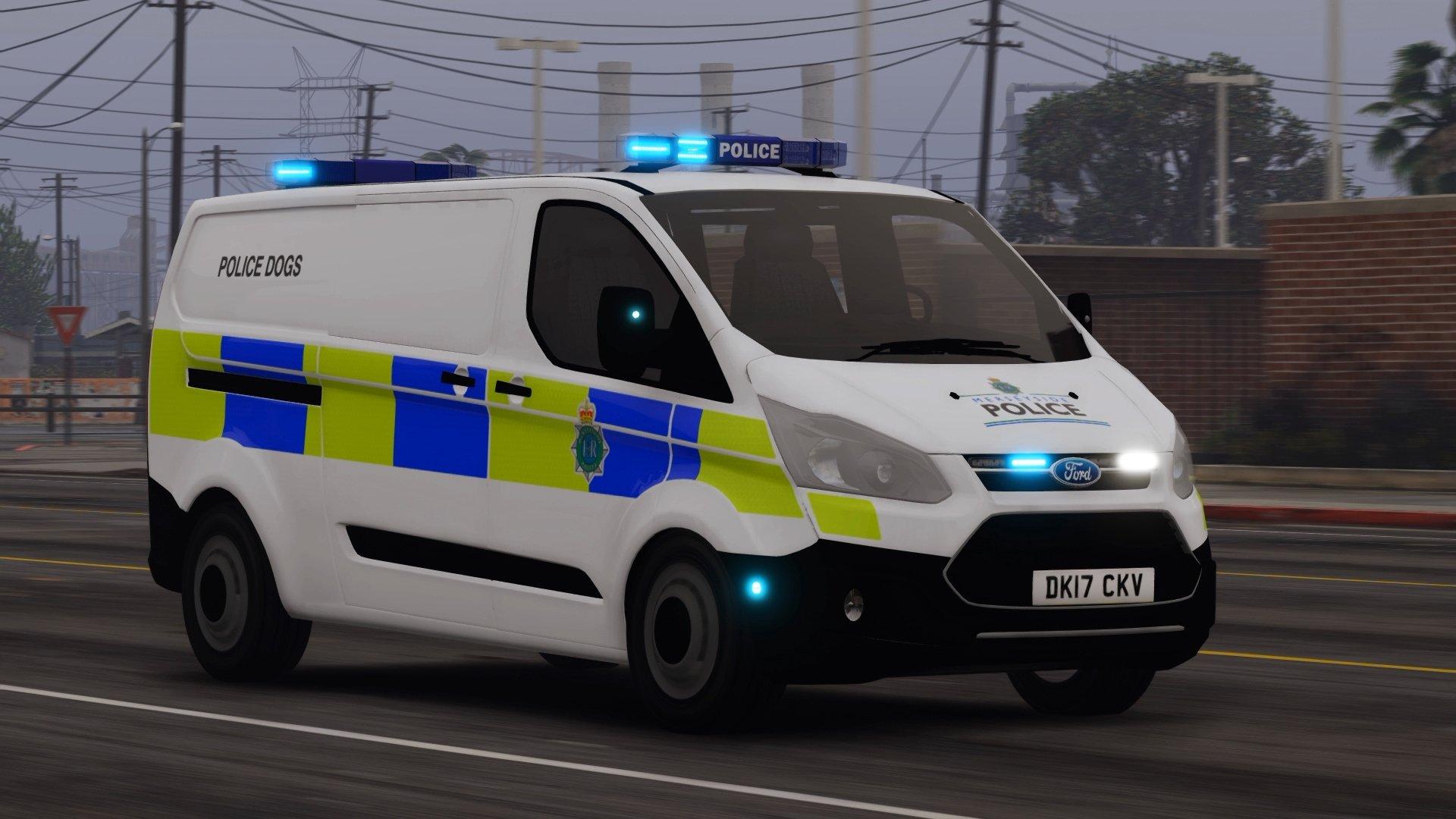 Merseyside Police Ford Transit Custom (DOG VAN) - GTA5-Mods com