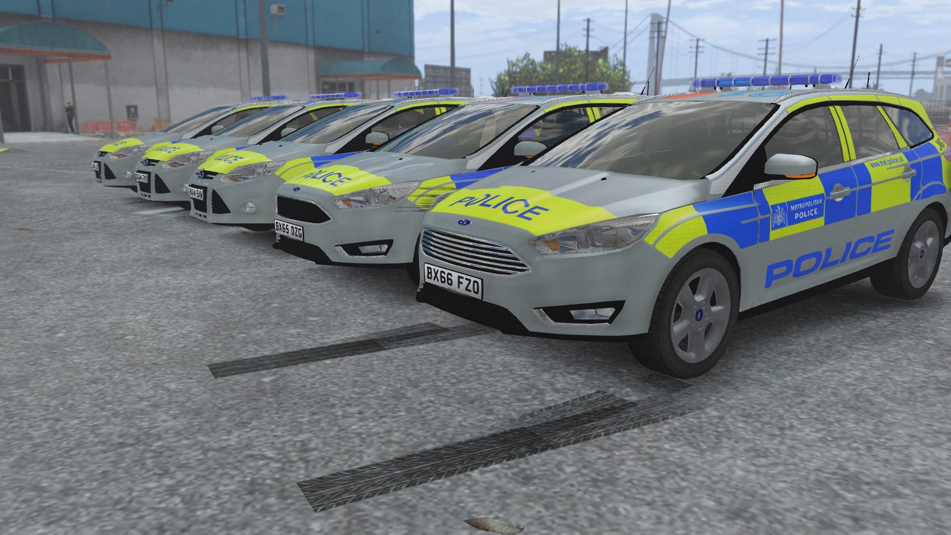 Metropolitan Police Ford Focus Estate Pack [ELS] - GTA5-Mods com