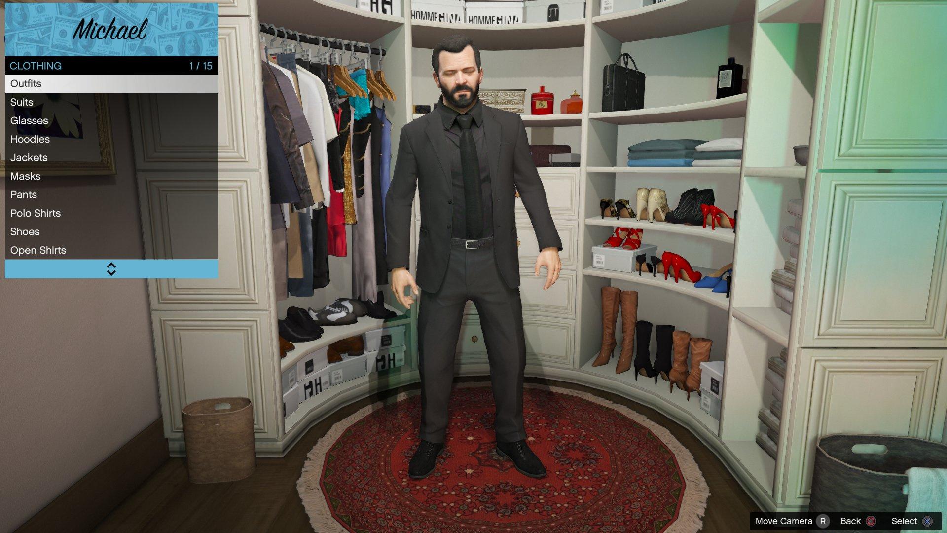 663a3f88e5ab Michael Black Suit   Tie - GTA5-Mods.com