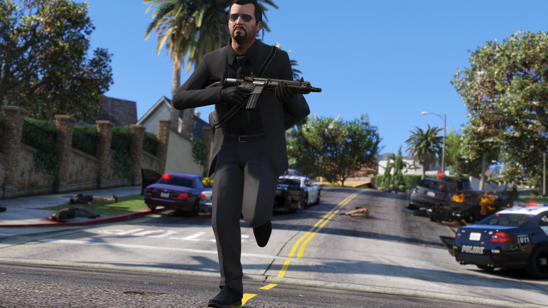 Michael Black Suit Tie Gta5 Mods Com