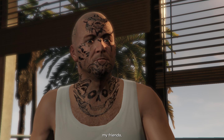 Michael Face Tattoos Gta5 Mods Com