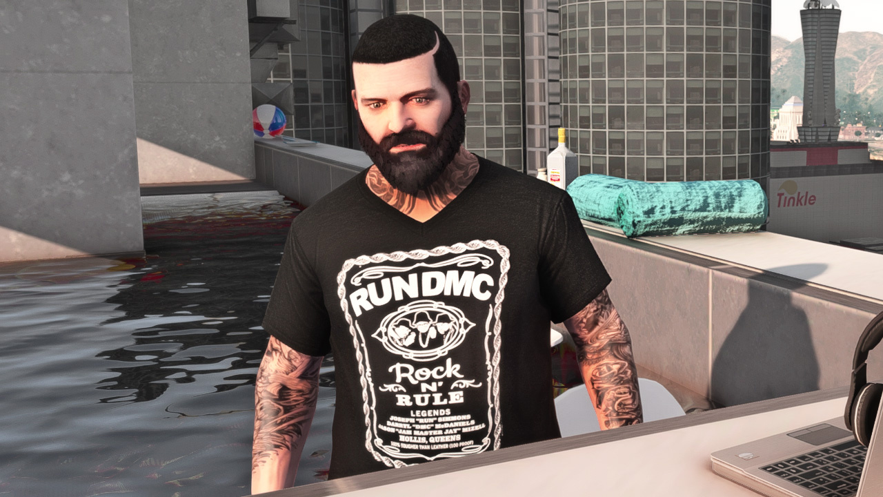 Michael Hardstyle Hair + Face + Shirts - GTA5-Mods.com