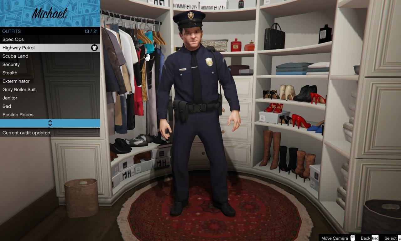 Michael LSPD Uniform - GTA5-Mods com