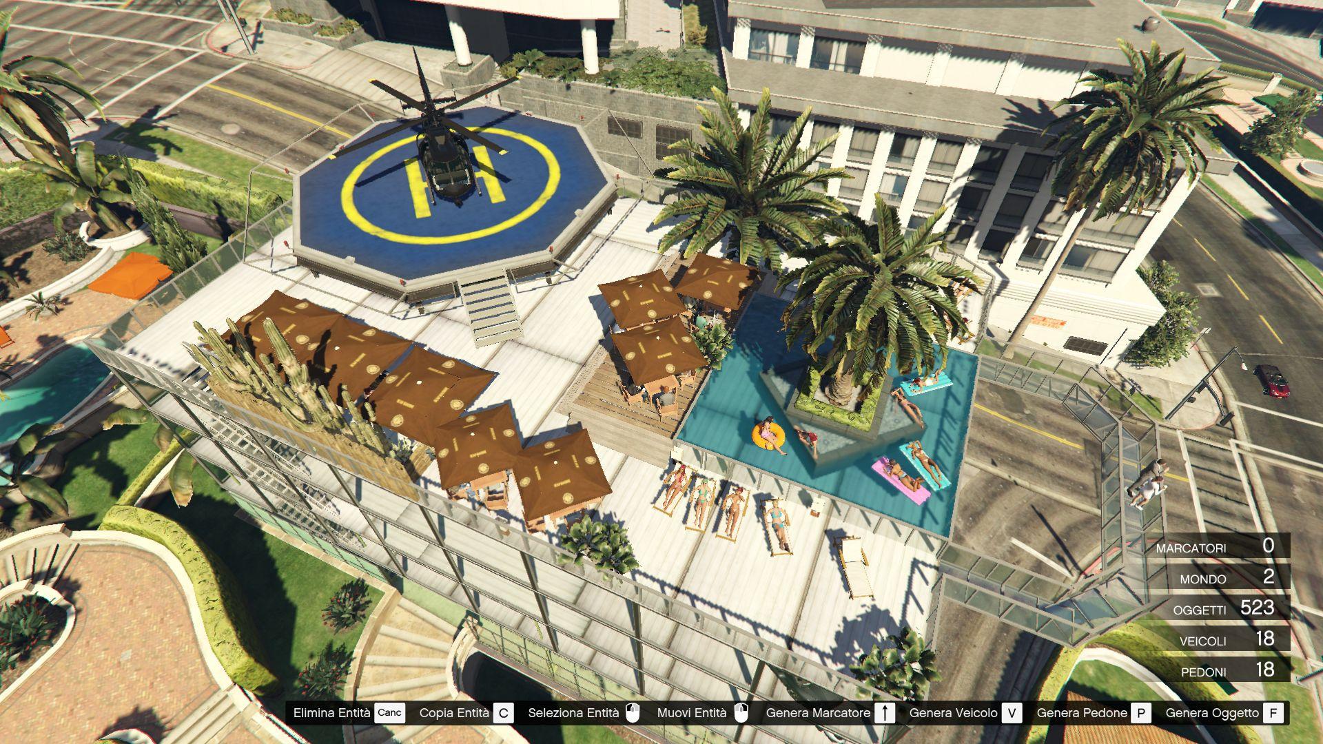 Michael's garage 2   party terrace [map editor / spg]   gta5 mods.com
