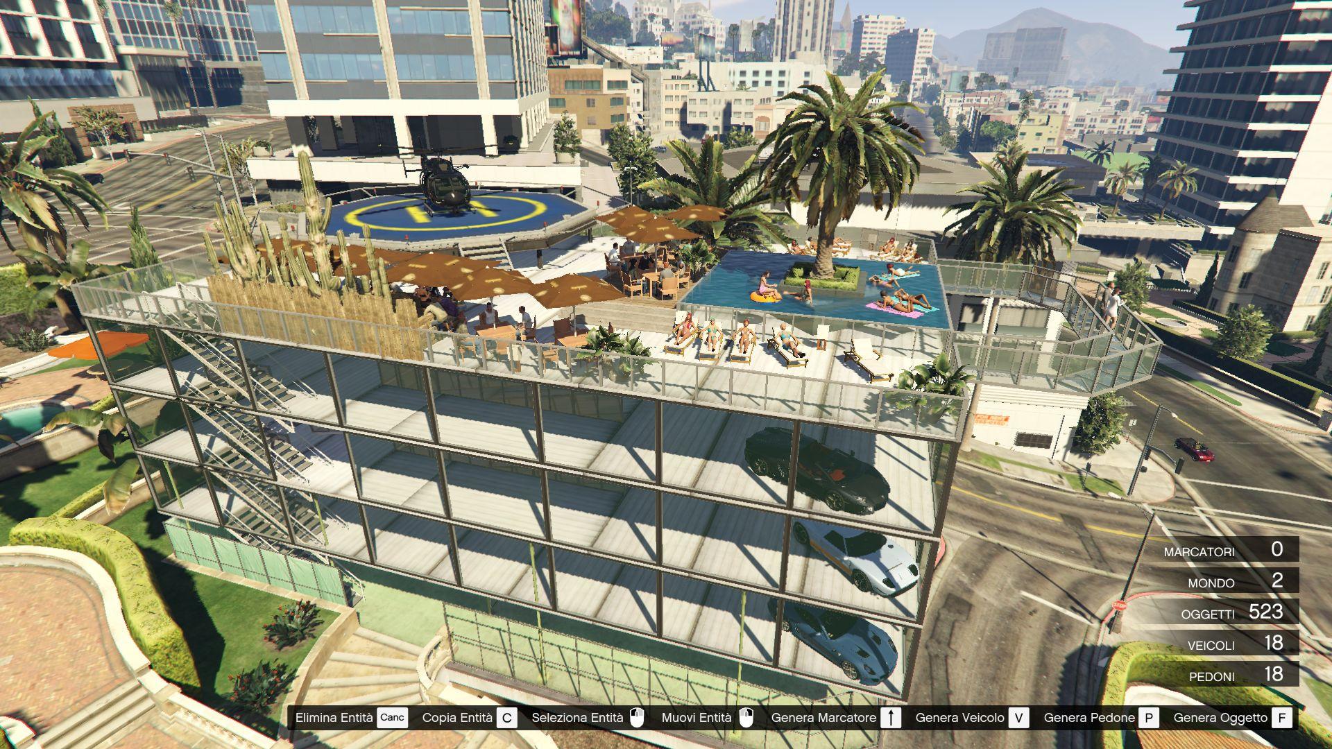 Michael's garage 3   party terrace [map editor / spg]   gta5 mods.com