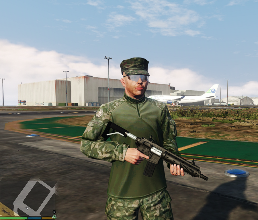 Military recolor USMC and Navy Seals + optional camo face paint