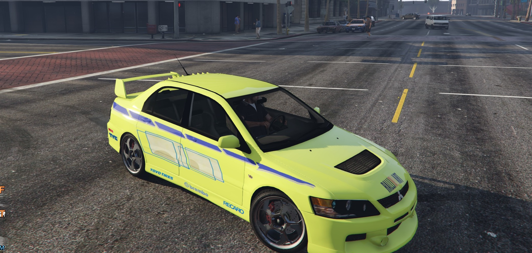 mitsubishi lancer 2 fast 2 furious paintjob - gta5-mods