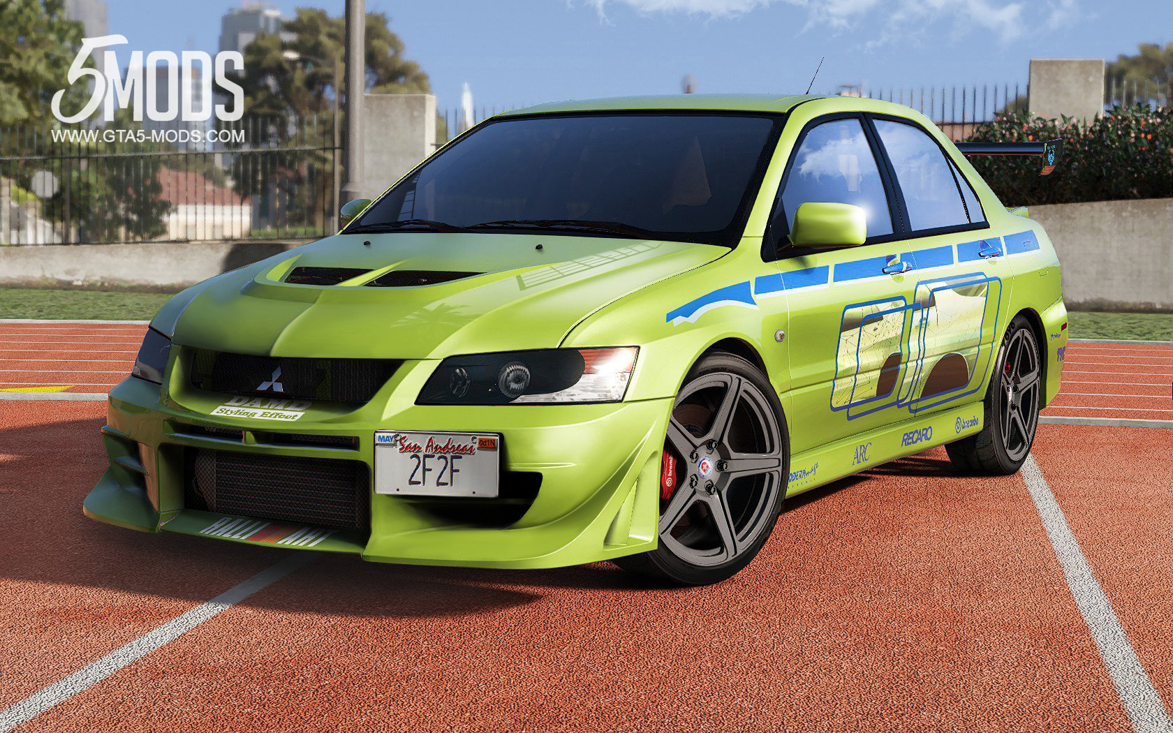 mitsubishi lancer evolution 2fast 2furious - gta5-mods