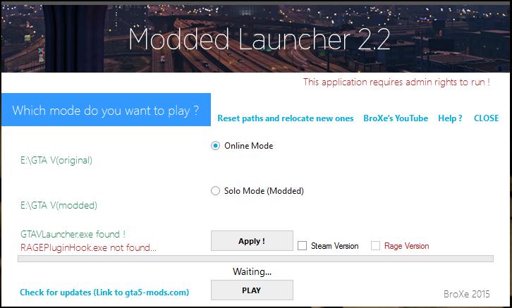 Скачать Launcher для GTA 5