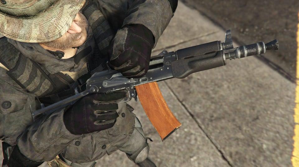 Modern Warfare Remastered AK-74u [2K | HP | Full Animated] - GTA5