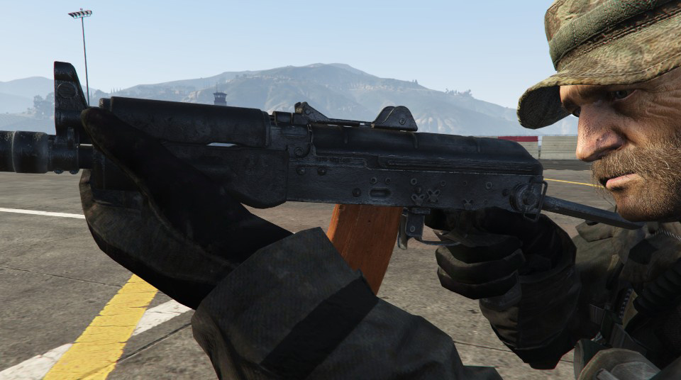 Modern Warfare Remastered AK-74u [2K | HP | Full Animated