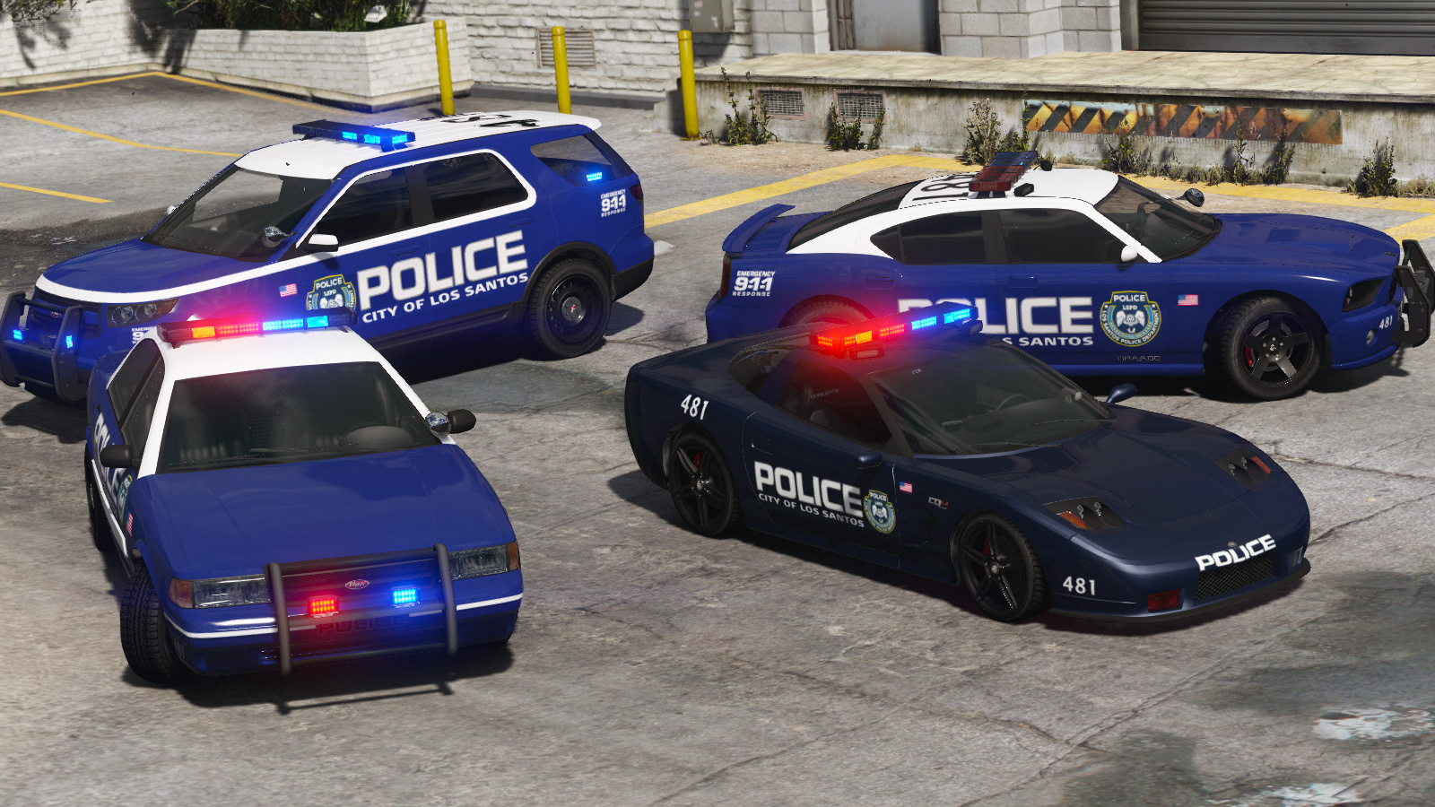 Most Wanted 2012 Los Santos City Pd Pack Add On Template