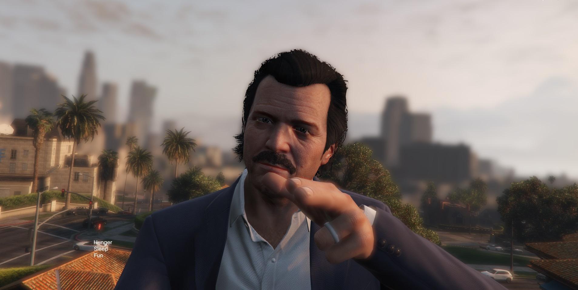 Moustache for Michael - GTA5-Mods com