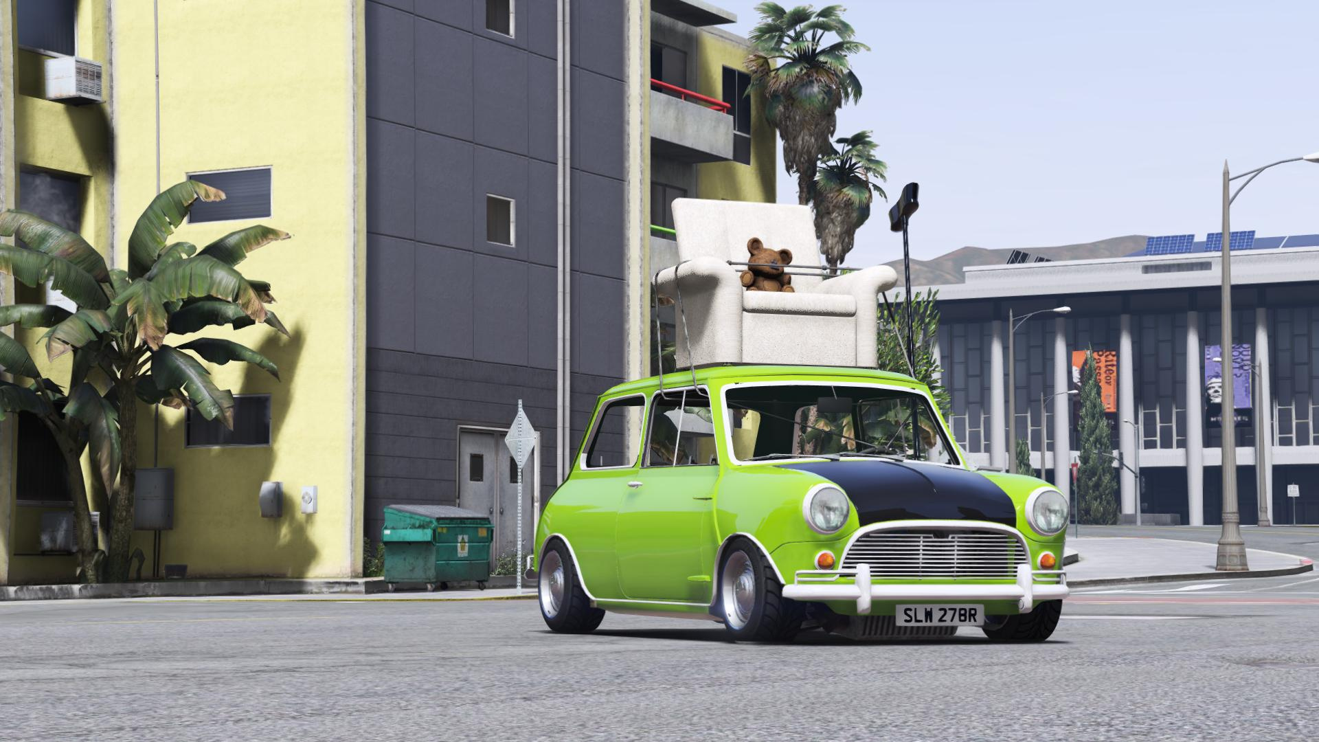 Mr Bean S Mini Cooper Add On Replace Gta5 Mods Com