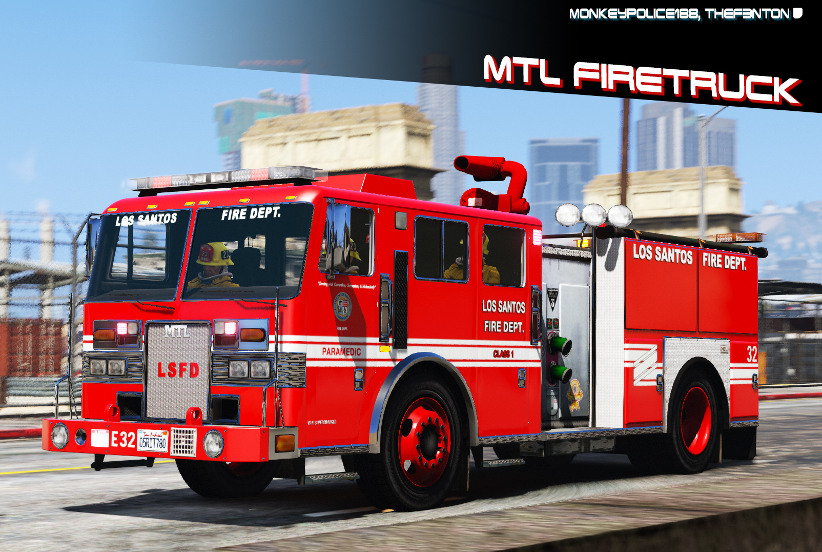 Mtl Fire Truck Improved Model Add On Liveries Template