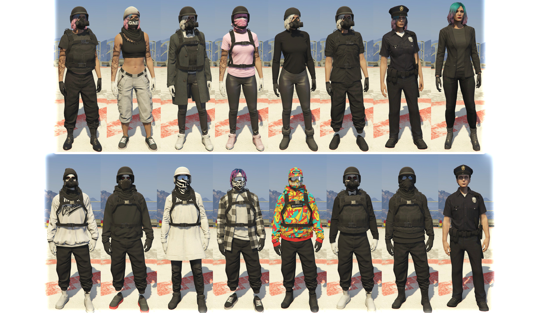 gta 5 female outfits tryhard