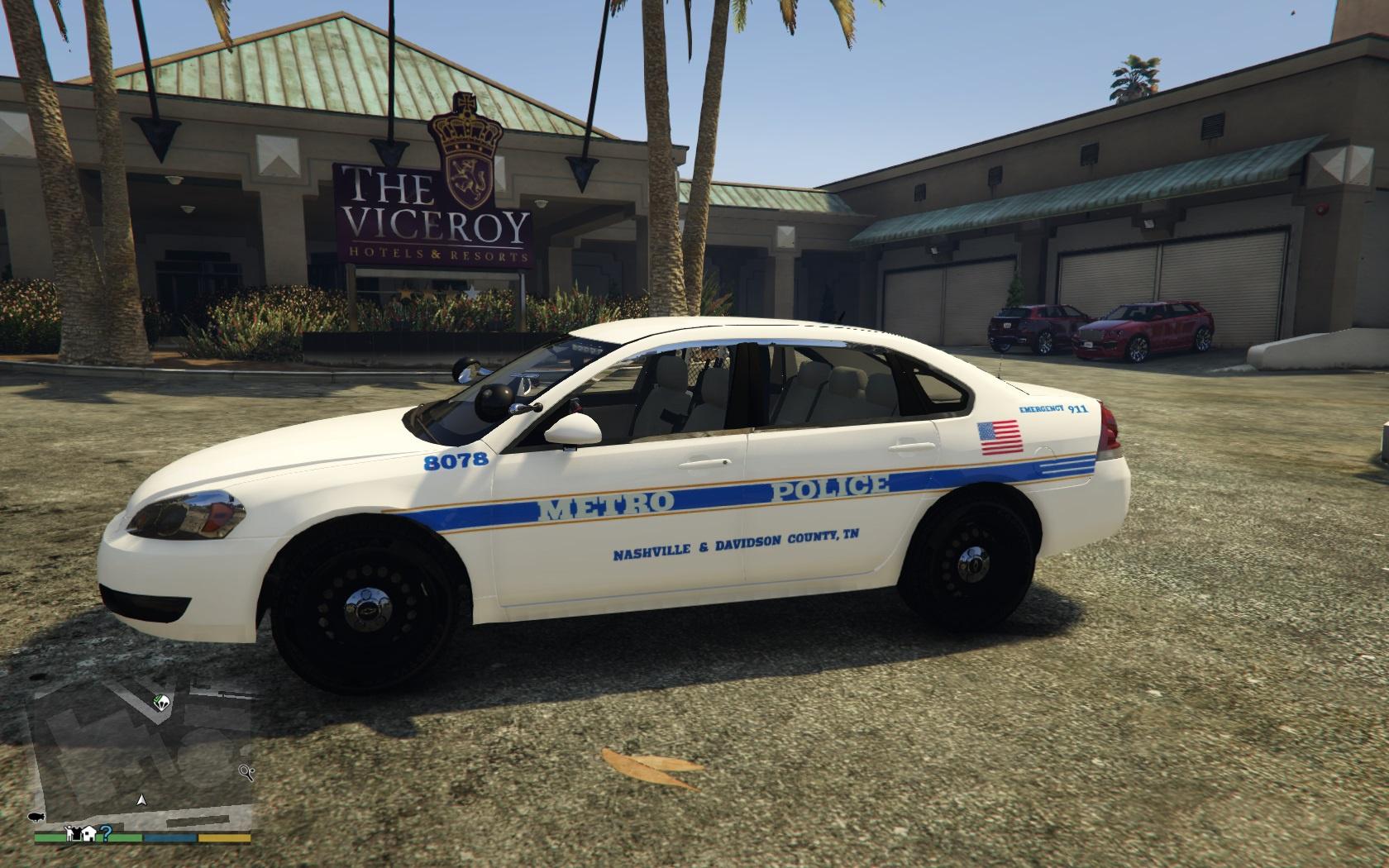 Nashville Metro Police Chevy Impala Texture Gta5 Mods Com