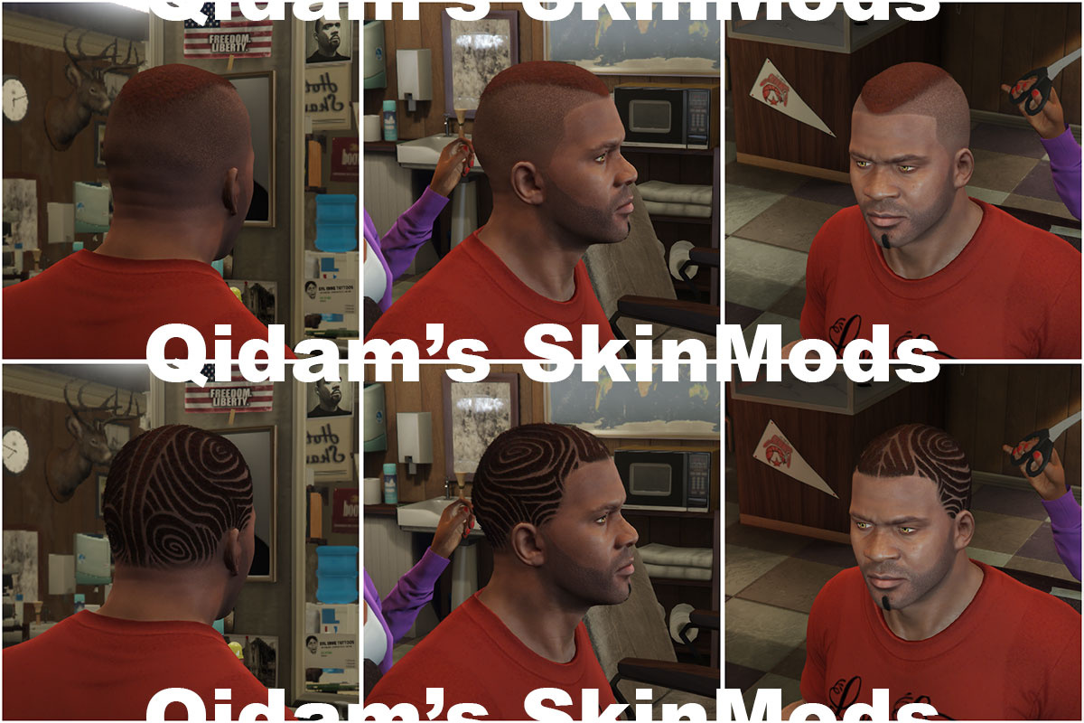 New Haircuts For Franklin Gta5 Mods