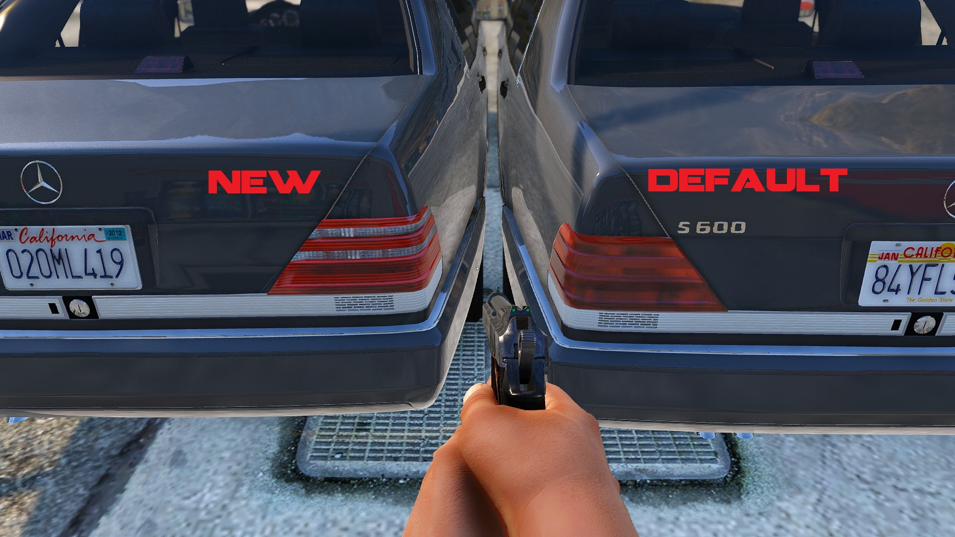New Lights For Mercedes Benz S600 W140 Gta5 Mods Com