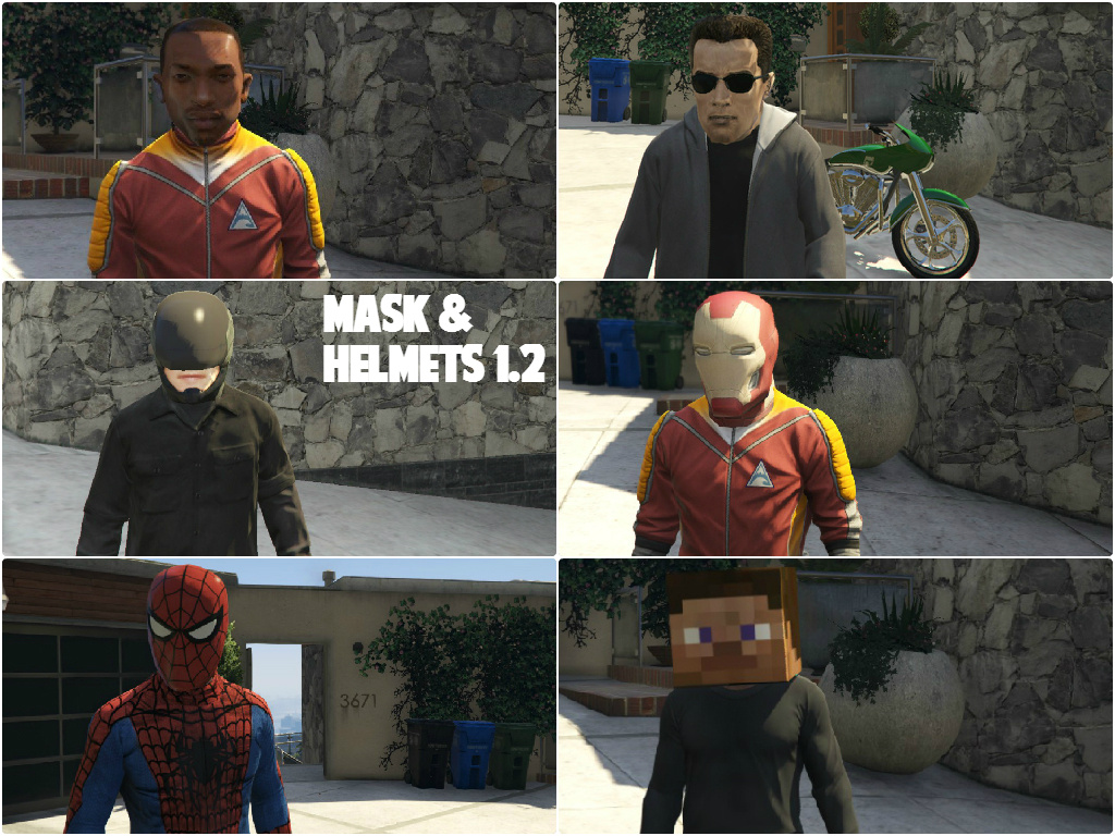 how to put a mask on in gta 5