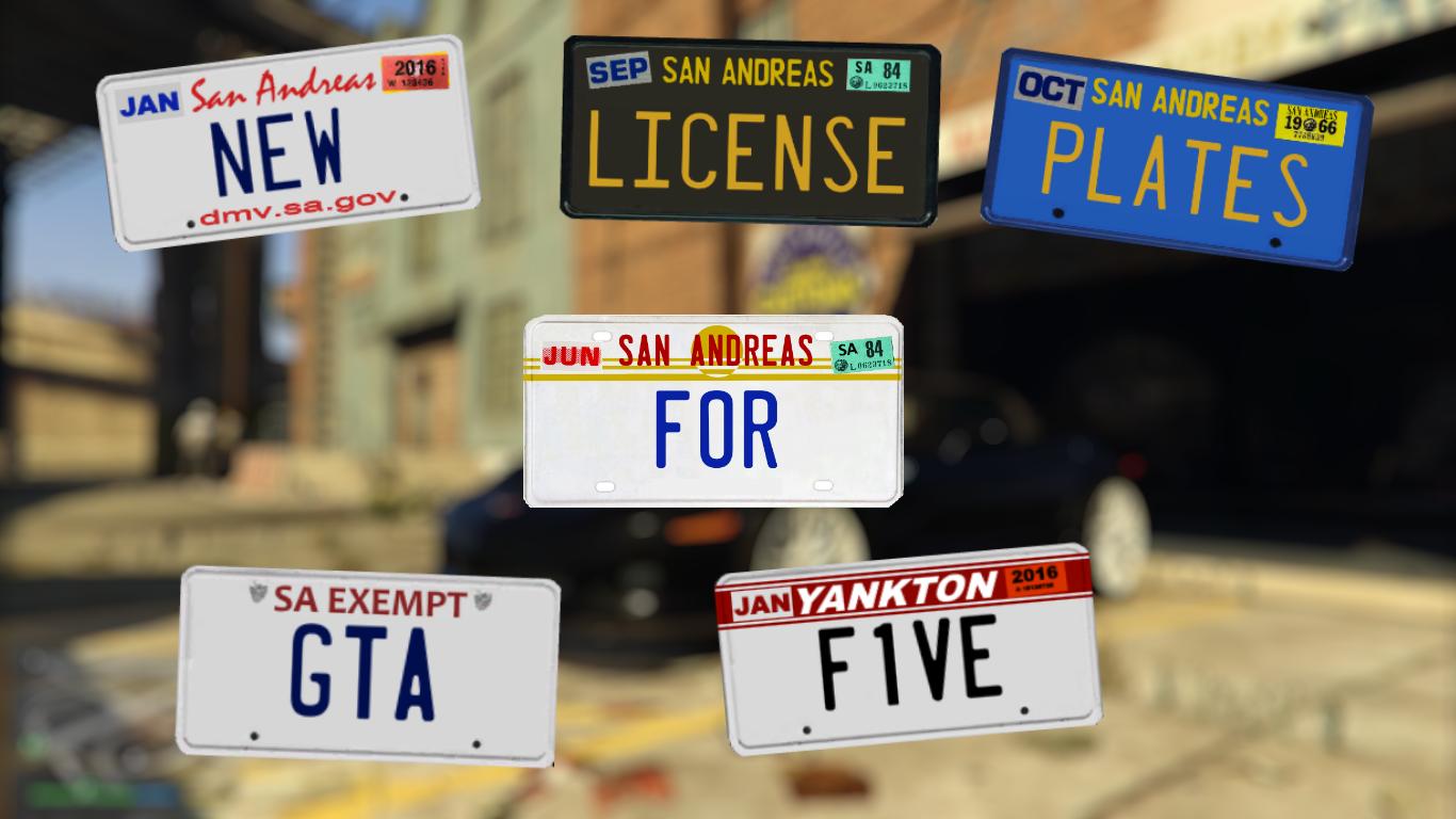 license plates pack  gta  gta modscom
