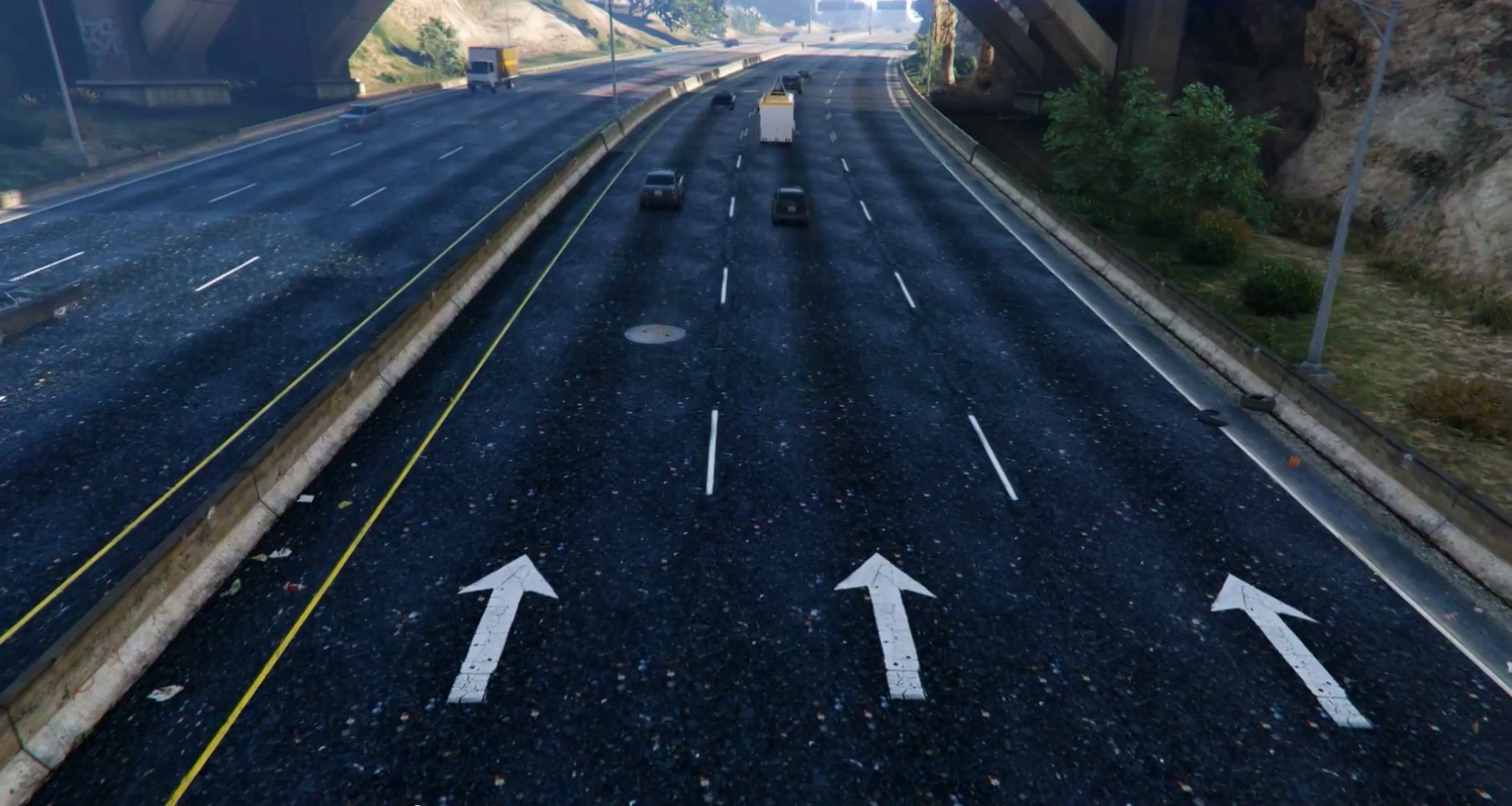 New Road Texture Highways Other Areas Gta5 Mods Com