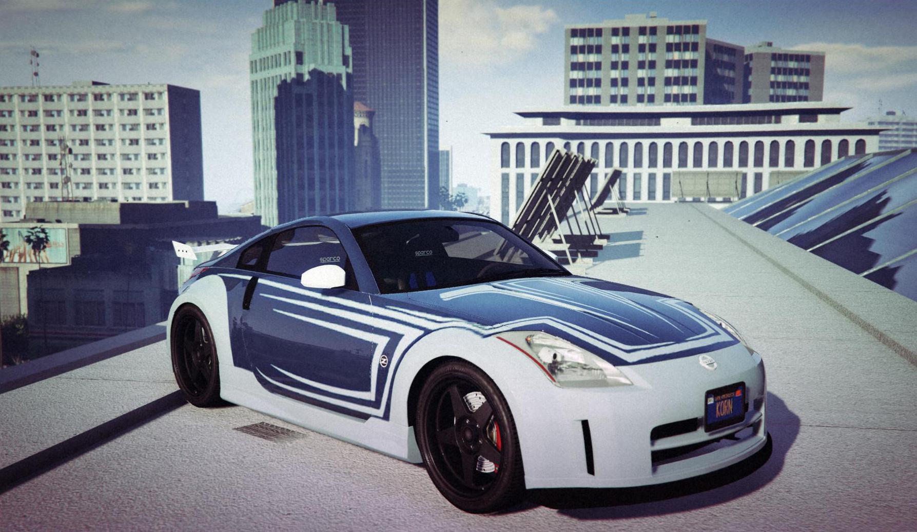"nissan 350z ""tokyo drift silver"" vinyl - gta5-mods"