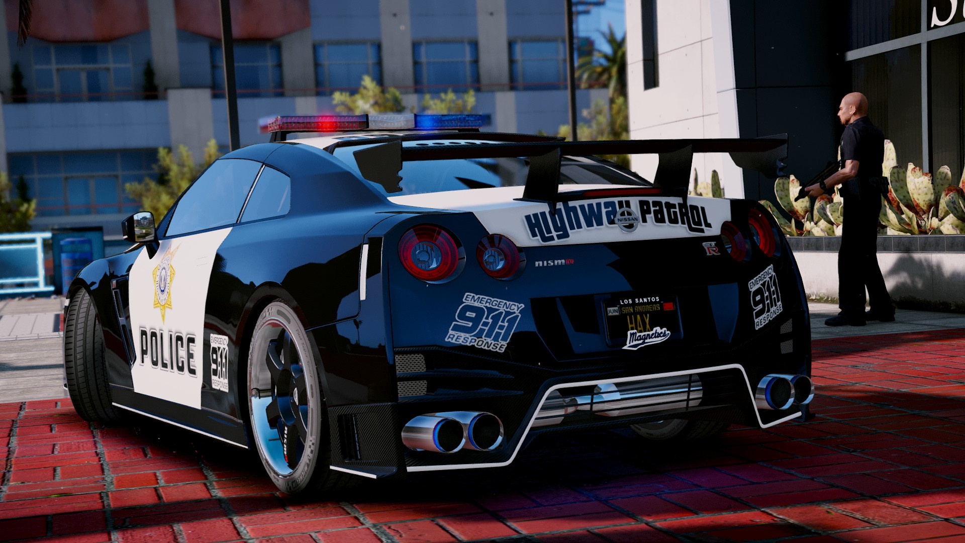 nissan gt r nismo police edition add on tuning gta5. Black Bedroom Furniture Sets. Home Design Ideas