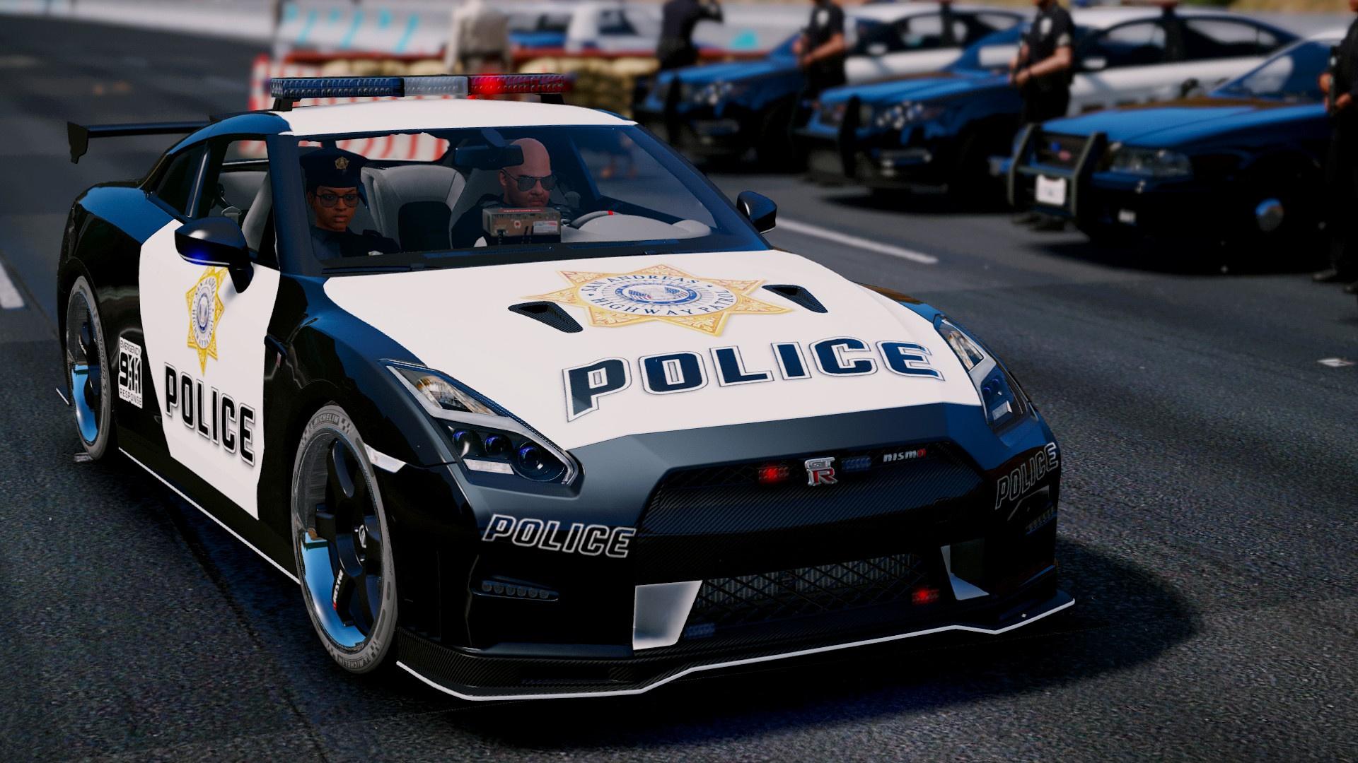 Nissan Gt R Nismo Police Edition Add On Tuning Gta5
