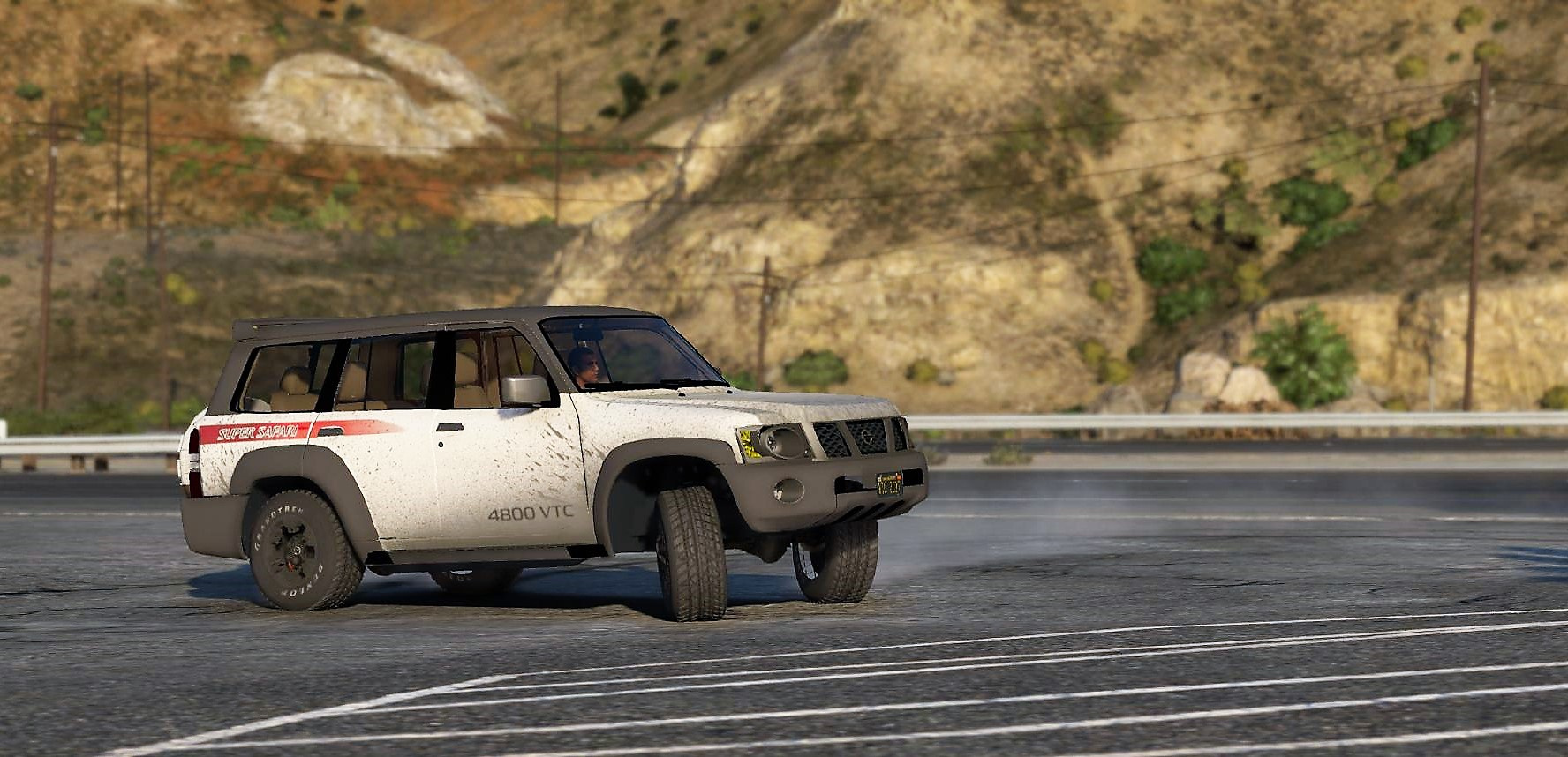 Nissan Patrol Super Safari Vtc Y61 4800 2017 Lwb Add On Replace Livery Extras Dirt Template Gta5 Mods Com