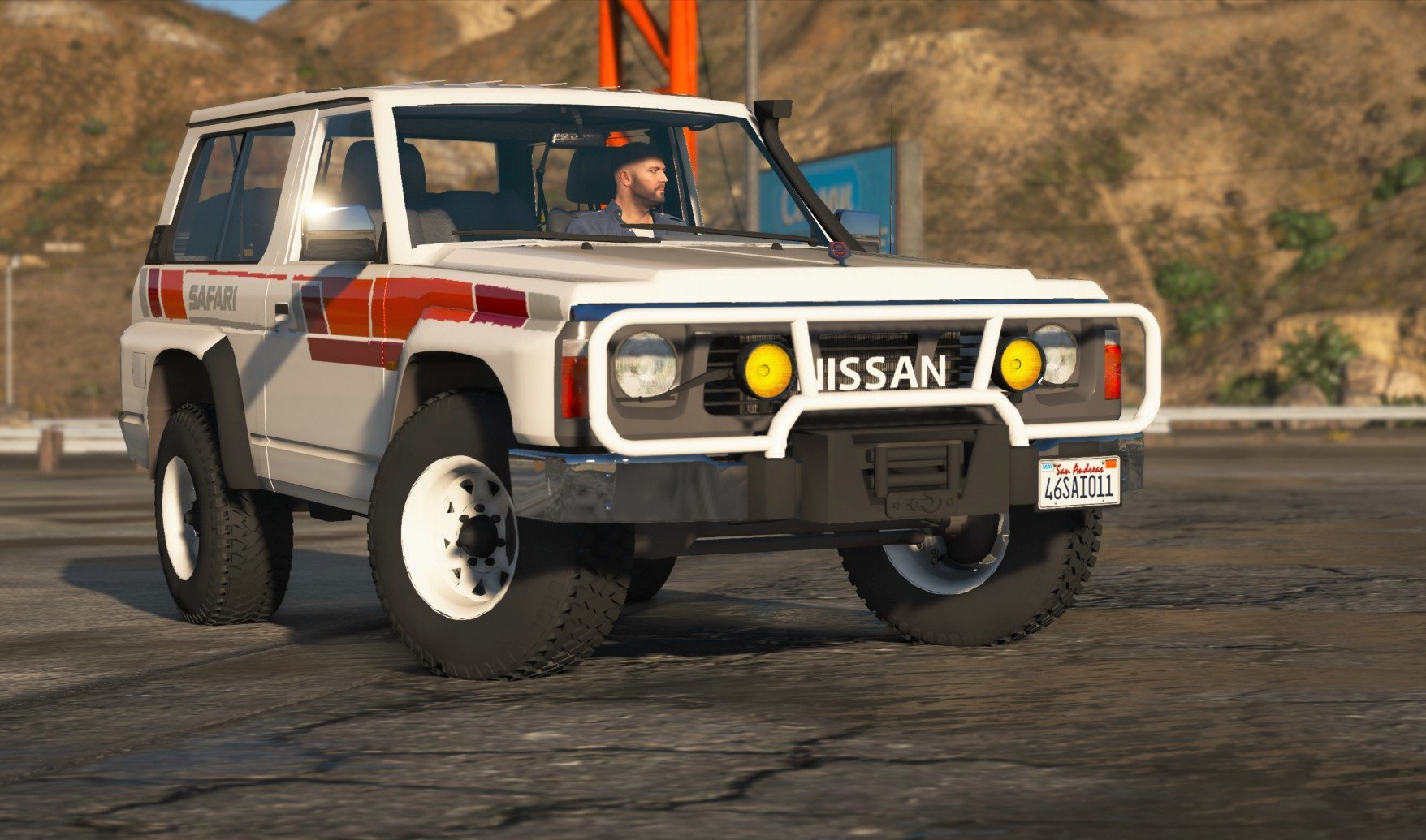 nissan patrol super safari y60 1997 swb add on replace livery