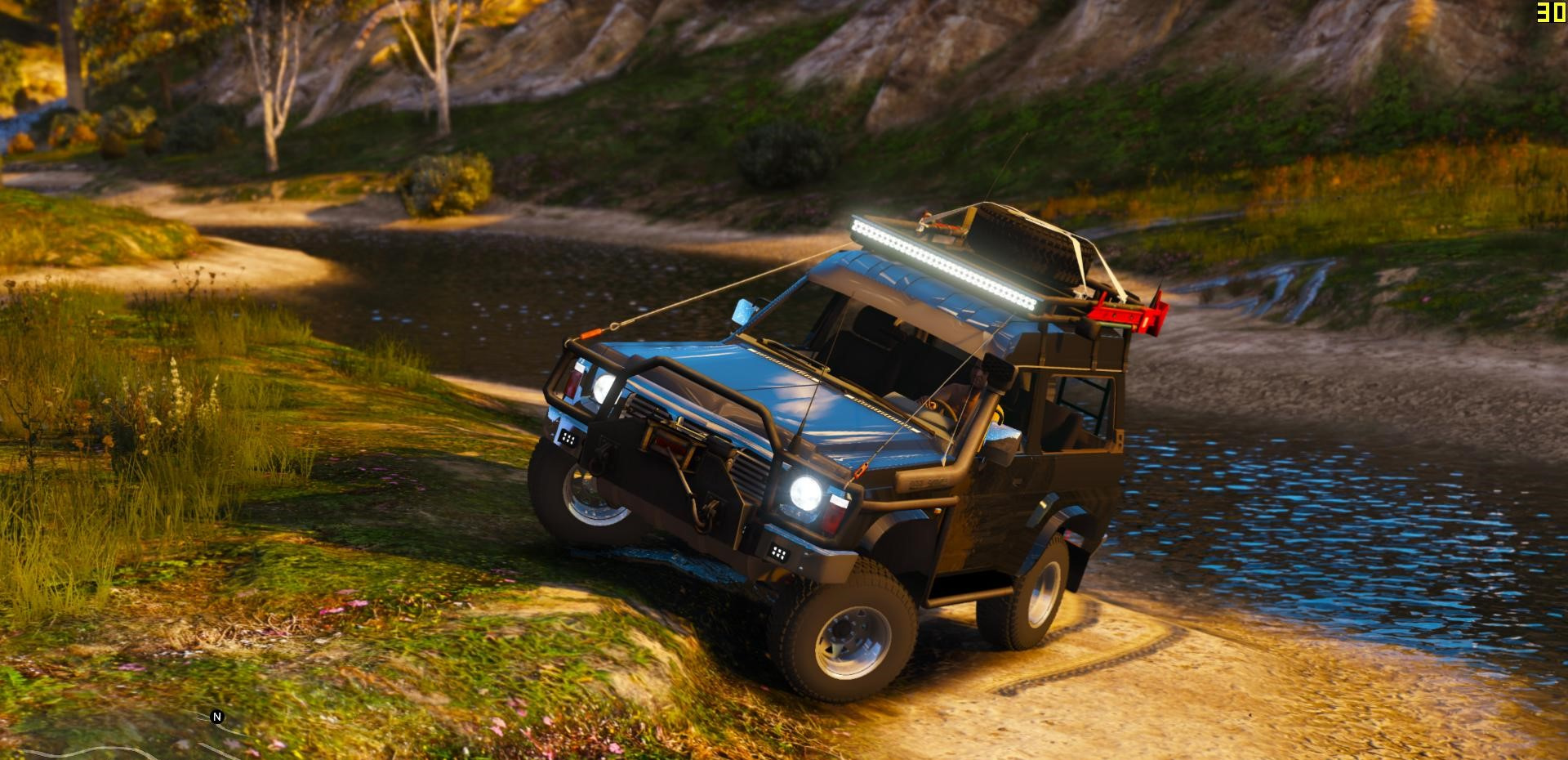 Nissan Patrol Y60 Off Road 1994 Add On Replace 7 Extras Gta5 Mods Com