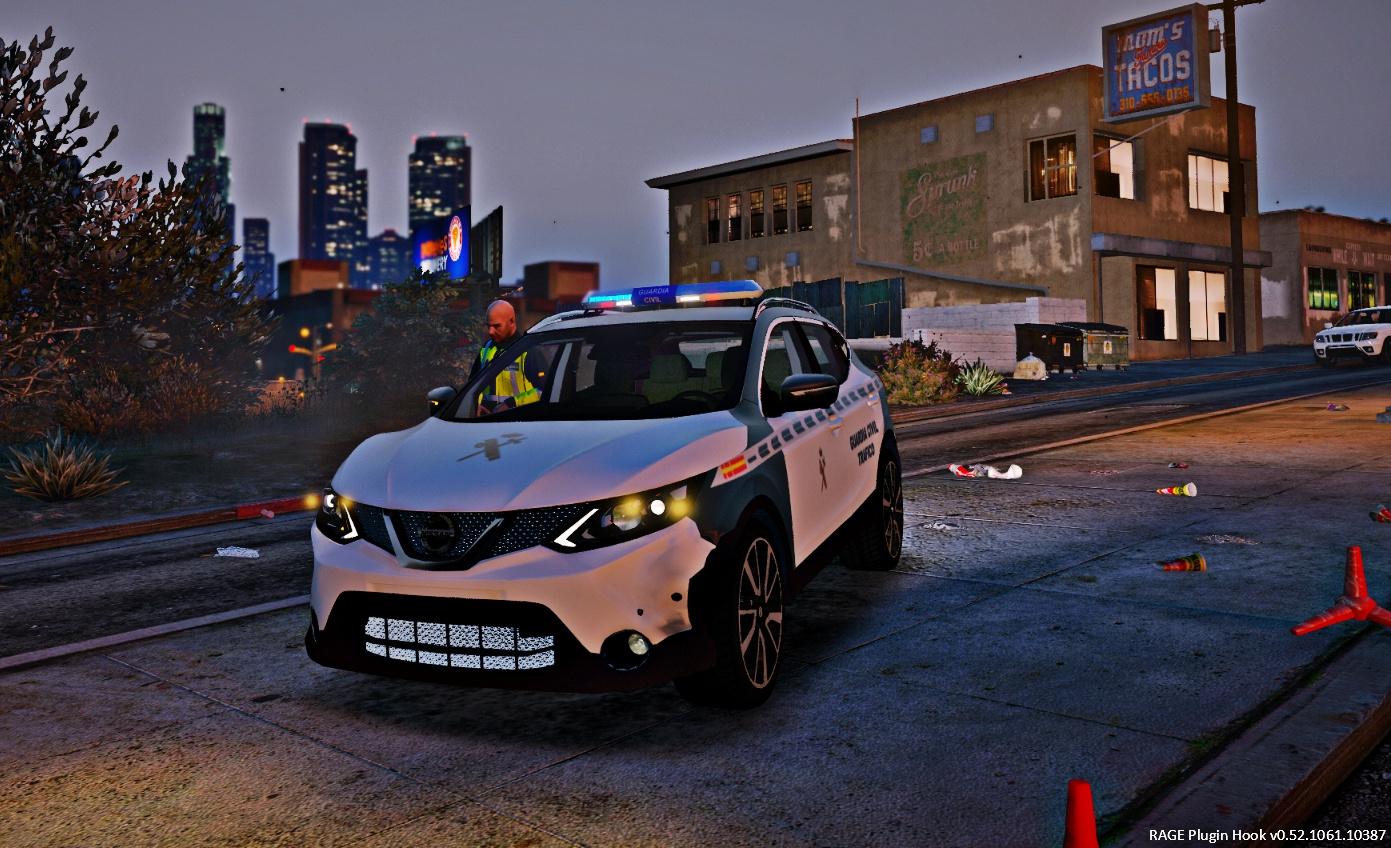 Nissan Qashqai Civil Trafico Gta5 Guardia j3RLA54