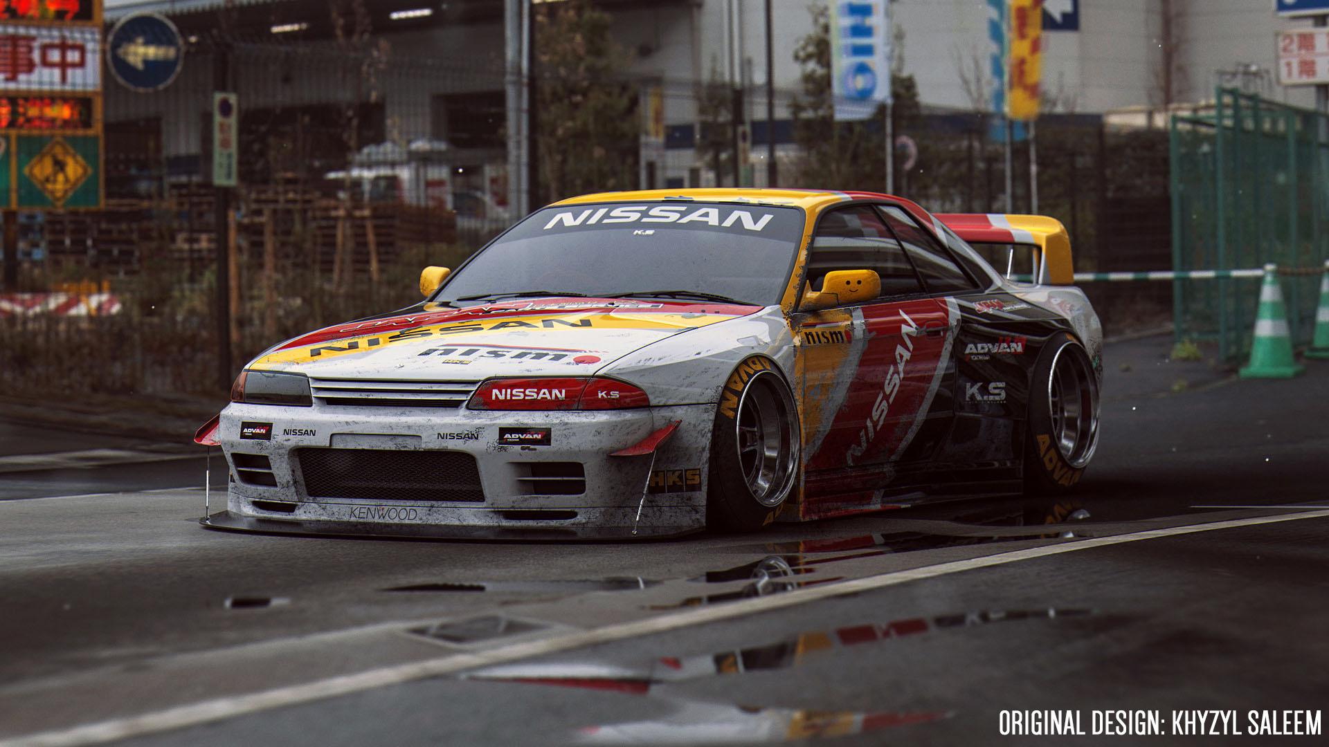 nissan skyline gt-r(bnr32) nismo racing/rally livery - gta5-mods