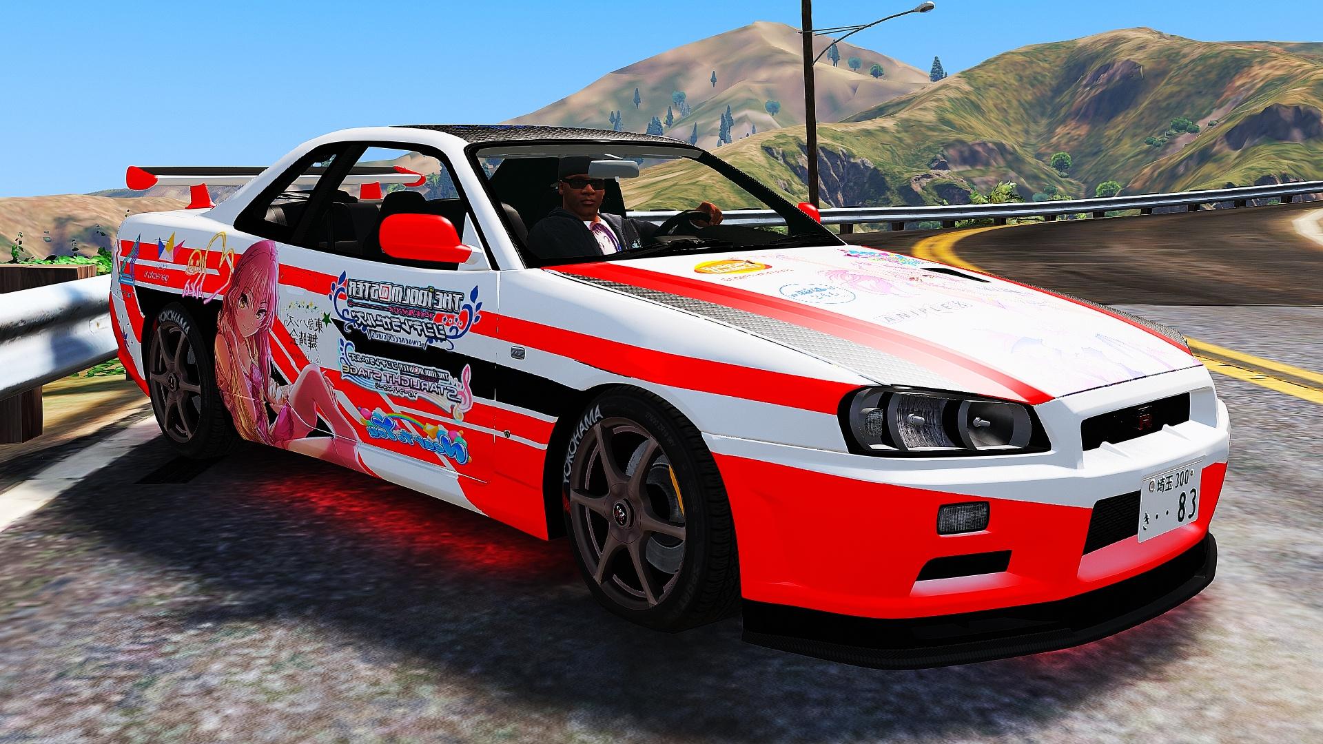 Nissan Skyline GT-R (BNR34) Itasha Livery - GTA5-Mods.com