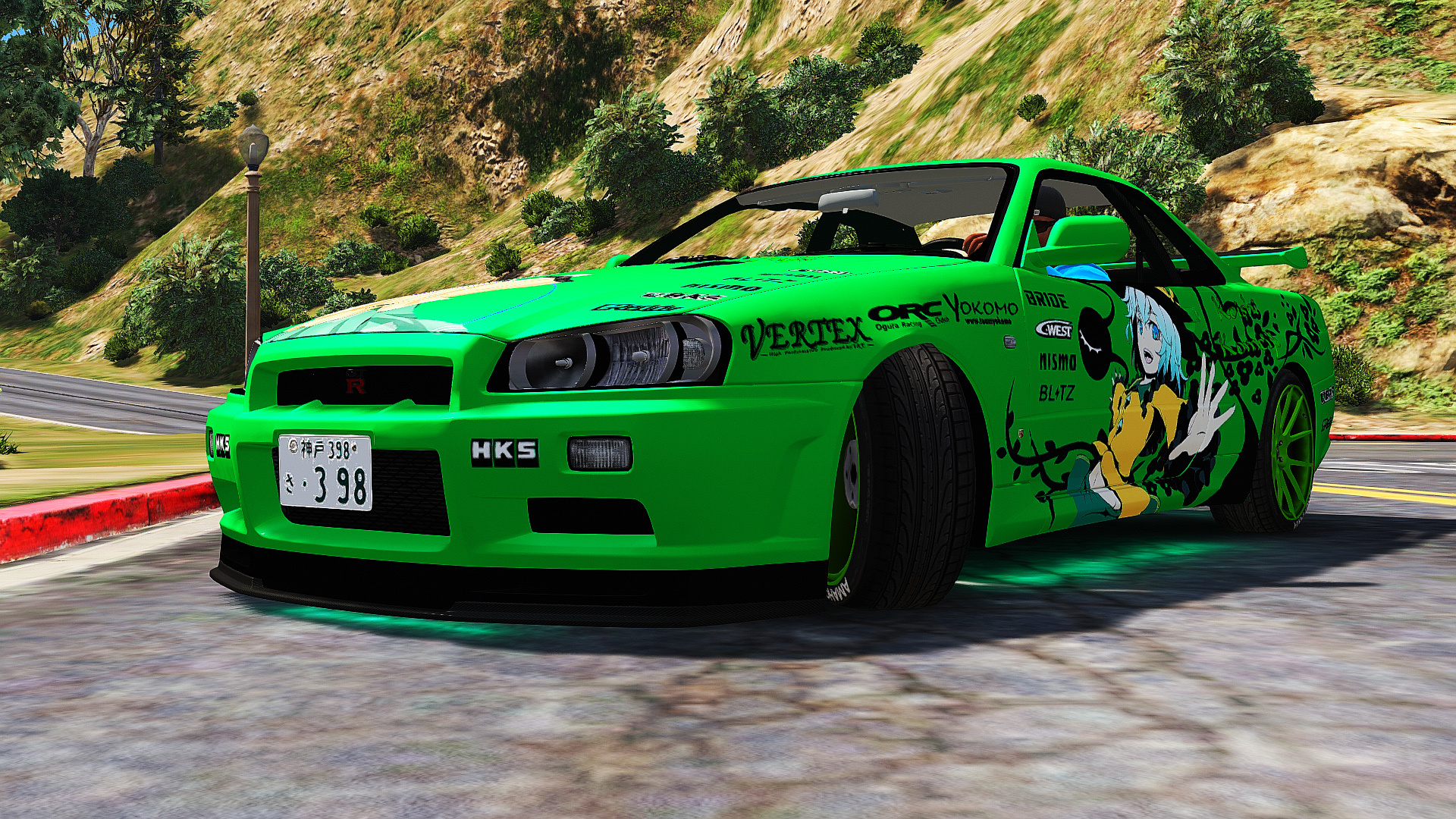 nissan skyline gt r bnr34 itasha livery gta5. Black Bedroom Furniture Sets. Home Design Ideas