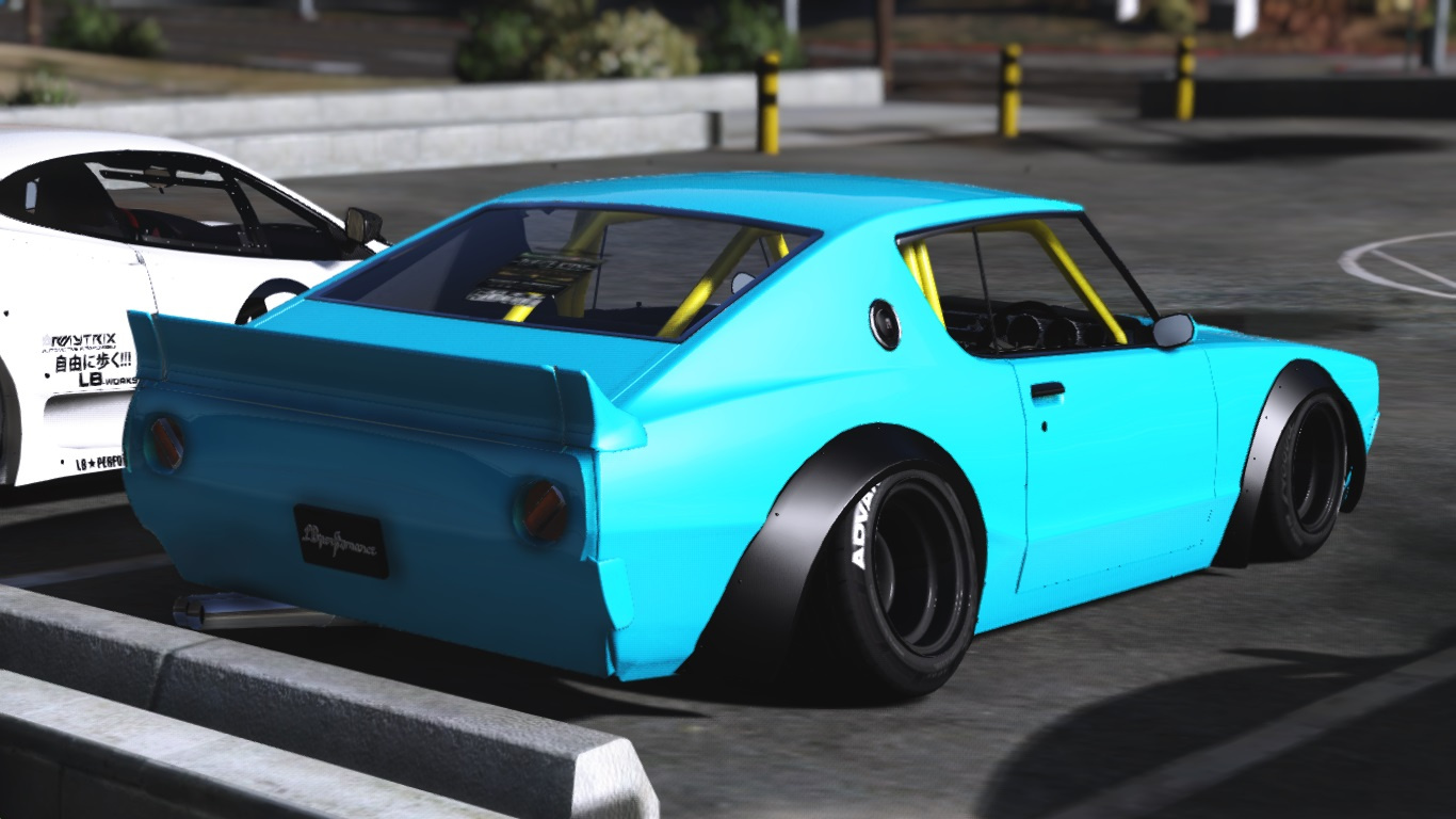 nissan skyline gt r c110 libertywalk add on replace gta5. Black Bedroom Furniture Sets. Home Design Ideas