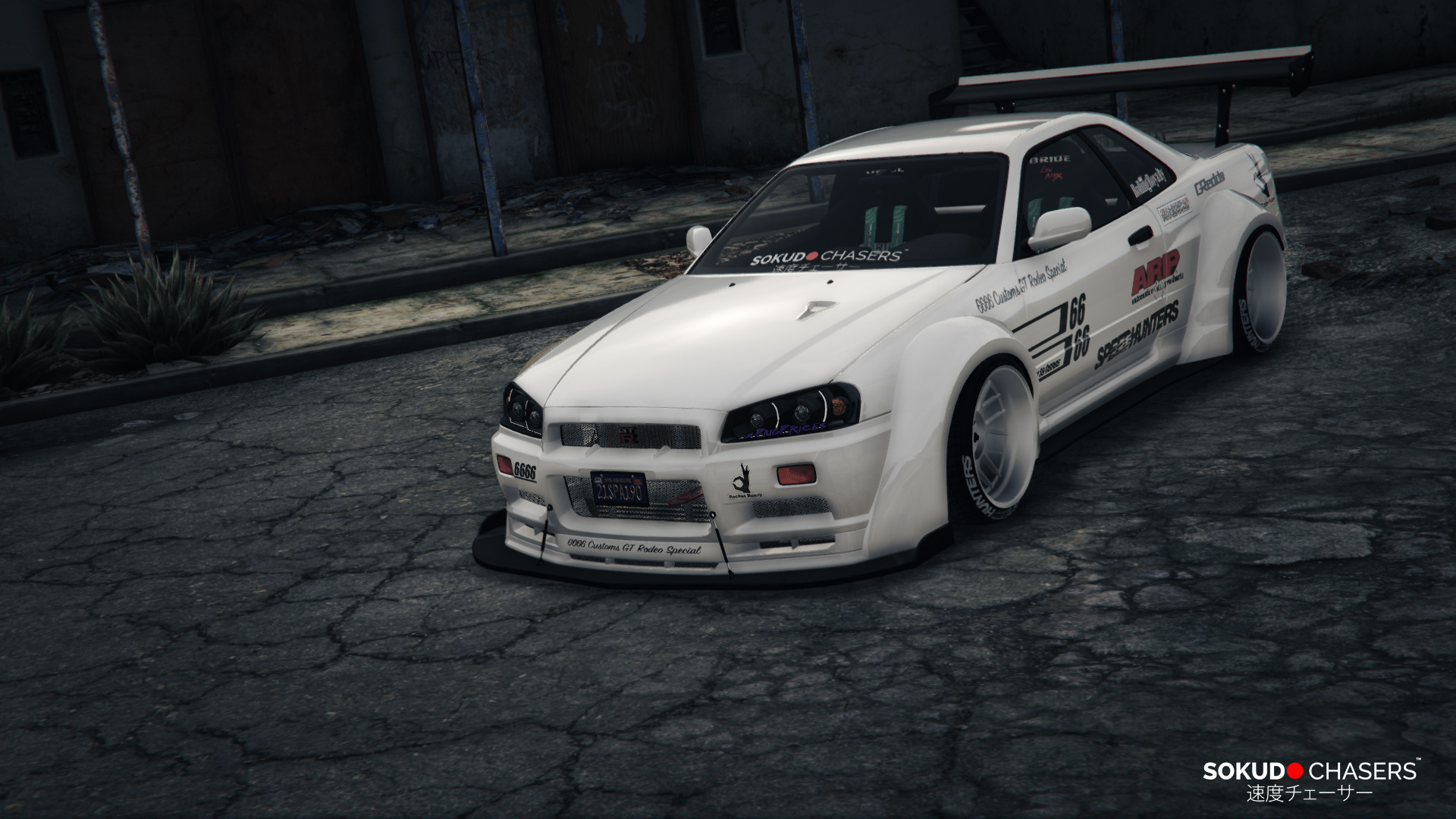 nissan skyline r34 rocket bunny gta5. Black Bedroom Furniture Sets. Home Design Ideas